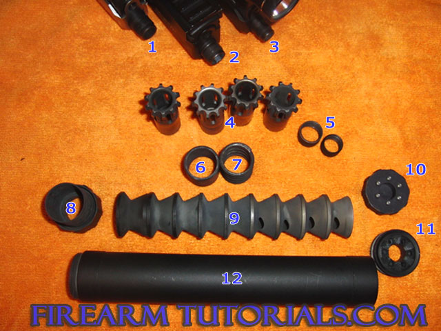 AAC Tirant 45 suppressor parts