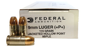 Federal +P+ 9mm